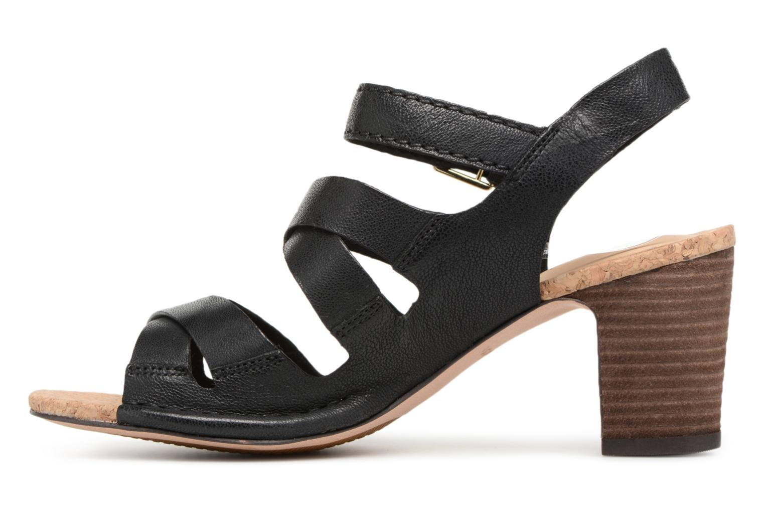Sandals Clarks Spiced Ava Black front view